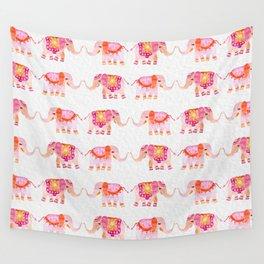 HAPPY ELEPHANTS - WATERCOLOR Wall Tapestry