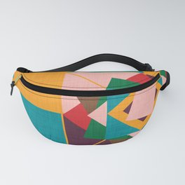 wind rose yellow Fanny Pack
