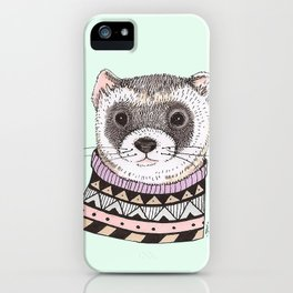 Hipster Ferret iPhone Case