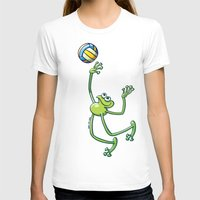 volleyball T-shirts featuring Olympic Volleyball Frog by Zoo&co on Society6 Products