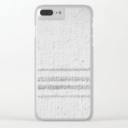 VINTAGE FARMHOUSE GRAIN SACK Clear iPhone Case