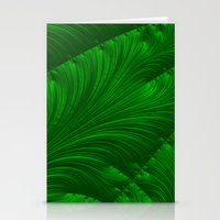 renaissance Stationery Cards featuring Renaissance Green by Charma Rose