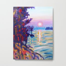 Gold Island Sunset Metal Print