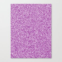 Spacey Melange - White and Purple Violet Canvas Print