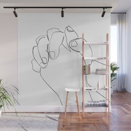 You Answered Me Line Art Wall Mural