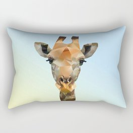 Low Poly Giraffe Rectangular Pillow
