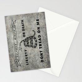 Culpeper Minutemen flag, Worn distressed version Stationery Cards