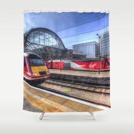 Kings Cross London Trains Shower Curtain