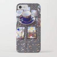 tarot iPhone & iPod Cases featuring Tarot tea by theedwardiangirl
