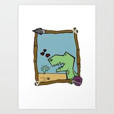 DINO BOY Art Print