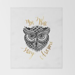 Owlsome Throw Blanket