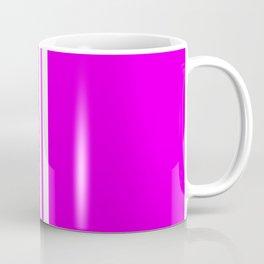 3 White Stripes on Pink Coffee Mug
