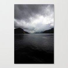 Clouded Fjord Canvas Print