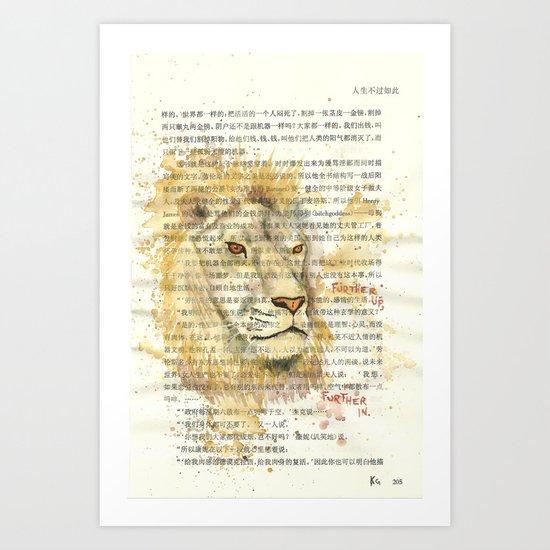 205 - Aslan Art Print