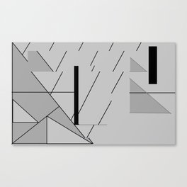 Grey Triangles Pattern Canvas Print