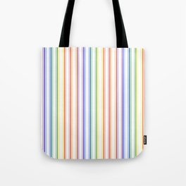 Split Rainbow Mattress Ticking Wide Stripes Pattern Tote Bag
