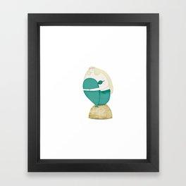 The Shy Mermaid Framed Art Print