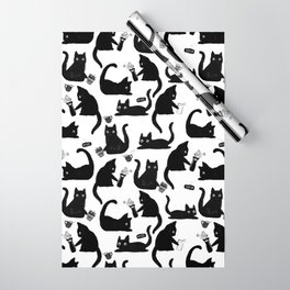 Bad Cats Knocking Stuff Over Wrapping Paper