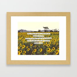 Jeremiah Sunflowers Framed Art Print