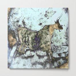 Lascaux Cave Bull III Metal Print