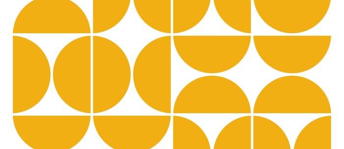 Mid Century Modern Geometric 04 Yellow Kaffeebecher