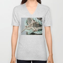 TIED TO THE MOORING #1 Unisex V-Neck