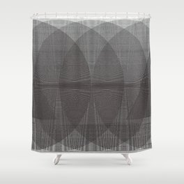 The Conversation Behind Doors Shower Curtain