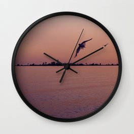 Fight to the Island Wall Clock