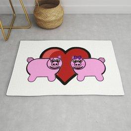 Piggy Love Rug