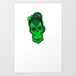 Bursting Geo Skull Art Print
