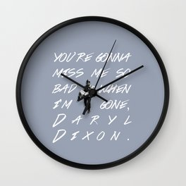Daryl Dixon and Beth Greene Wall Clock