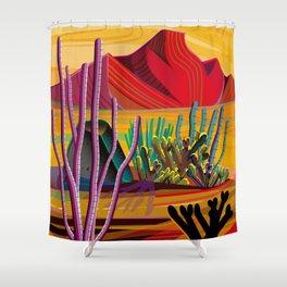 Love Mountain Shower Curtain