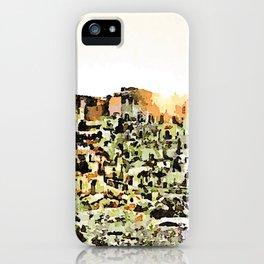 Sassi di Matera: view with sun iPhone Case