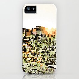 Sassi di Matera: view with sun iPhone Case