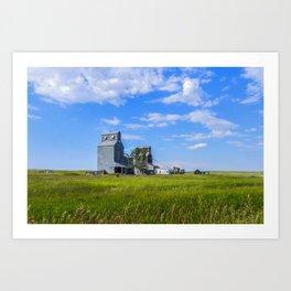 Elevators, Carlyle, Montana Art Print