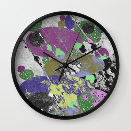 Stack Em Up! - Abstract, textured, pastel coloured artwork Wall Clock