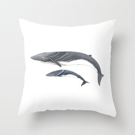 Fin whale Throw Pillow