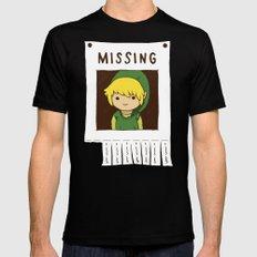Missing Link MEDIUM Mens Fitted Tee Black