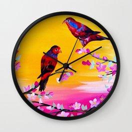 Lorikeets Wall Clock