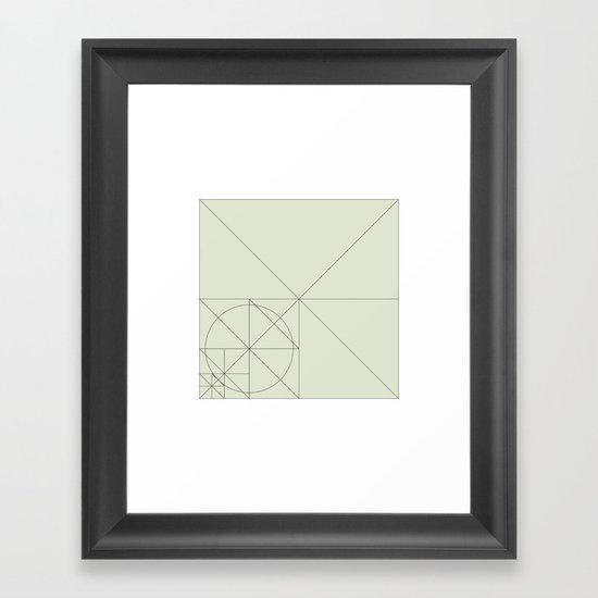 #93 Intruder on the radar – Geometry Daily Framed Art Print
