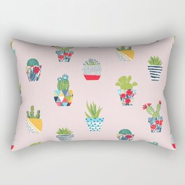 Funny cacti illustration Rectangular Pillow