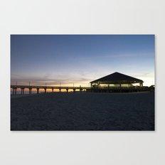 Sunset at the Tybee Island Pavillion Canvas Print