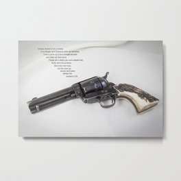 Straight Shooter. With Poem Metal Print