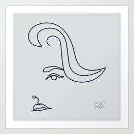Jane Fonda - line drawing Art Print