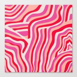 pink zebra stripes Canvas Print