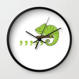 Chameleon Reptile Reptiles Animal Pet Lizard Gift Wall Clock