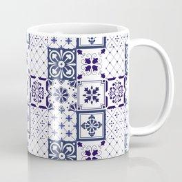 Blue tile pattern Coffee Mug