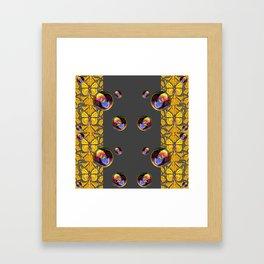 SURREAL IRIDESCENT SOAP BUBBLES & BUTTERFLIES Framed Art Print