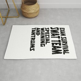 Student Gift Exam SWAT Team Special Whining and Training Rug