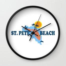 St Pete's Beach - Florida. Wall Clock